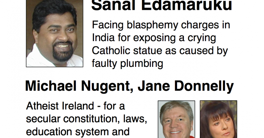 Separate Church and State Now! Public Meetings in Dublin, Cork, Galway and Belfast with Sanal Edamaruku