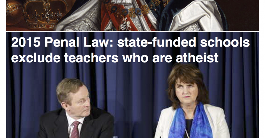 End religious discrimination against teachers who are atheist