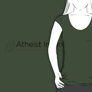 Atheist Ireland Olive Scoop neck T