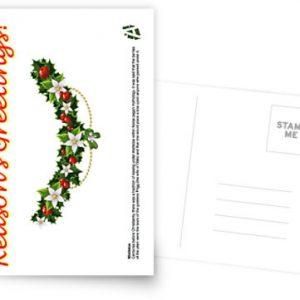 reasons greetings mistletoe card