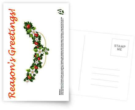 reasons greetings mistletoe card