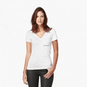 women's fitted v neck