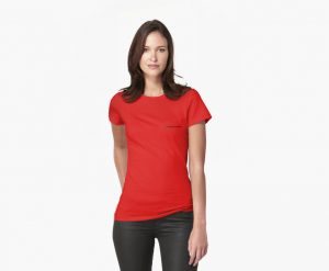 womens t shirt red