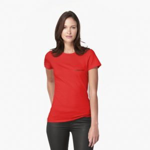 womens t shirt red