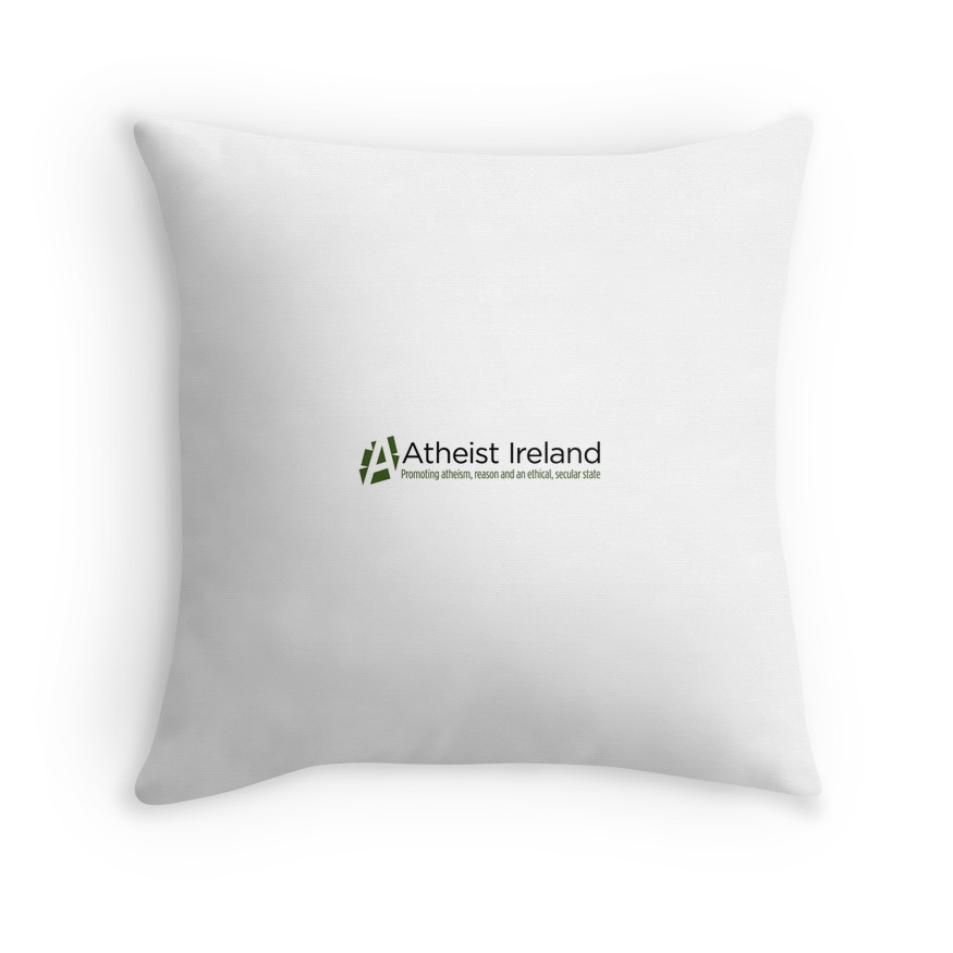 Throw Pillow Cover And Insert : Atheist Ireland Logo Throw Pillow (cover plus insert) Atheist Ireland