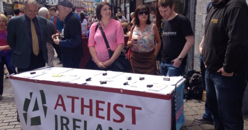Atheist Ireland Information Table in Galway