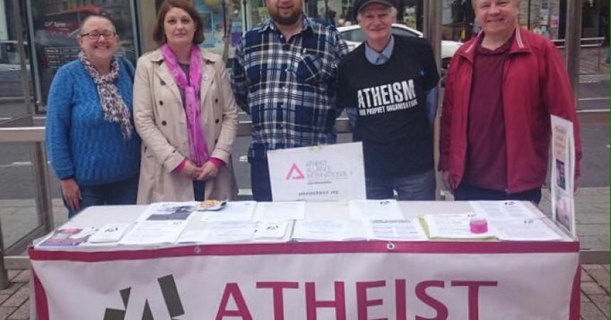Atheist Ireland Information Table in Cork