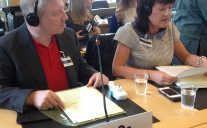 Michael Nugent and Jane Donnelly from Atheist Ireland at the UN.