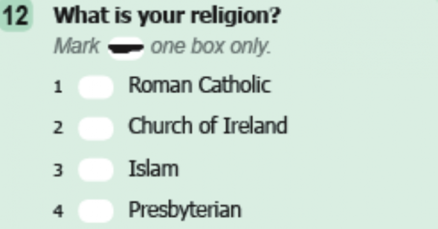 If you are not religious, tick 'No Religion' in the census