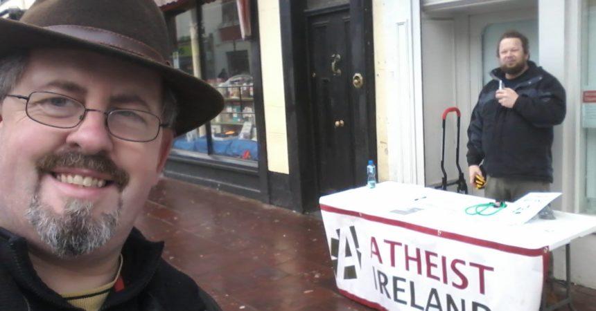 Atheist Ireland Information Table in Killarney