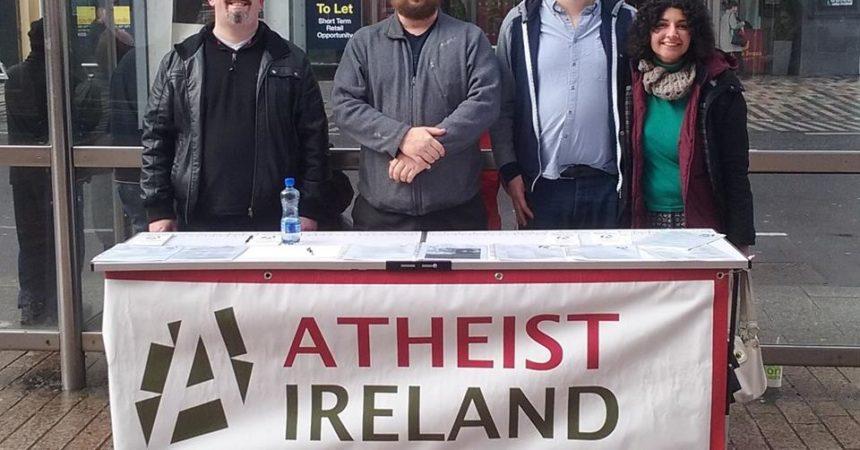 Atheist Ireland Information table Cork March 2017