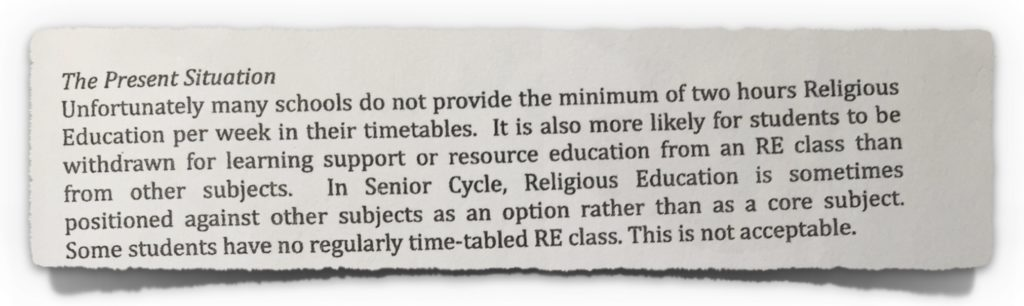 2014-01-24 Diocesan Advisor Instructions Issued to Schools by CEO of CMETB (Part 1)