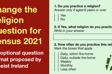 Atheist Ireland proposes changes to religion question for census 2021