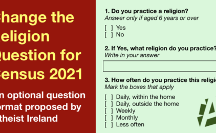 Atheist Ireland to attend meeting of Census 2021 Advisory Group on Religion question