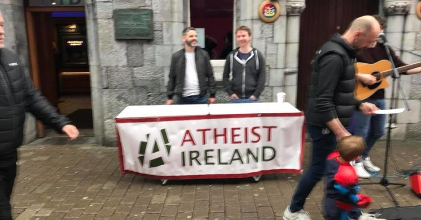 Atheist Ireland Information Table Galway March 2018