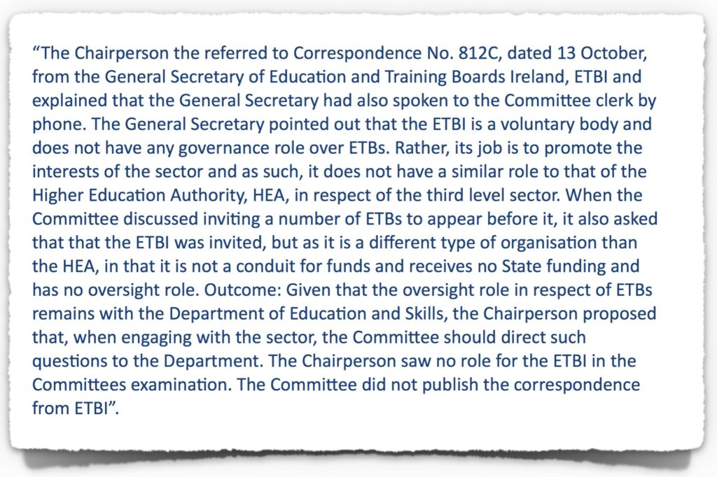 Extract from Public Accounts Committee Transcript of 19th October 2017
