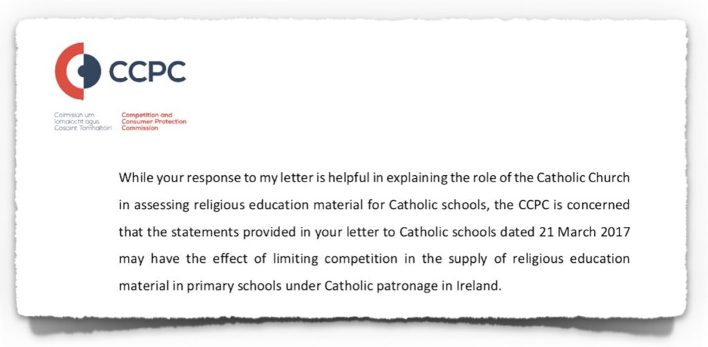 Letter from CCPC to Bishop Leahy on 27th October 2017