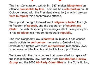 Irish Constitutional Convention recommendations on blasphemy