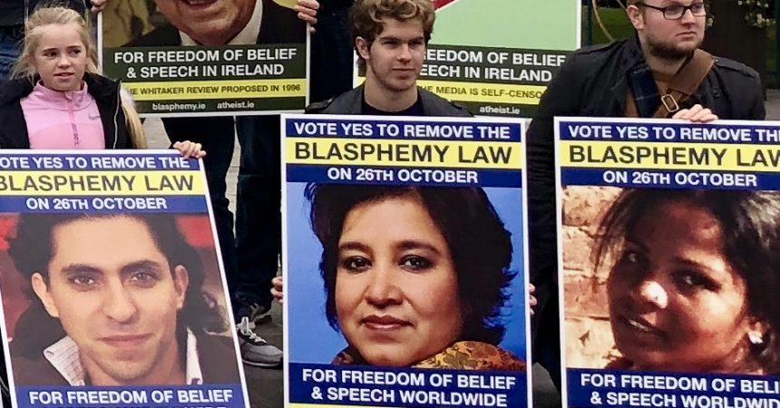 Atheist Ireland welcomes positive exit poll figures on blasphemy referendum