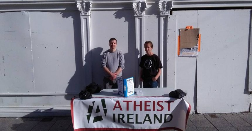 Atheist Ireland Information Table in Waterford