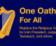 One secular oath for all