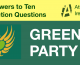 Green Party responses to General Election questions from Atheist Ireland