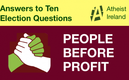 People Before Profit responses to General Election questions from Atheist Ireland