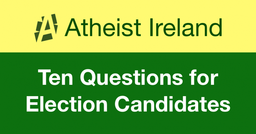 Secular Sunday #421 – Ten Questions for Election Candidates