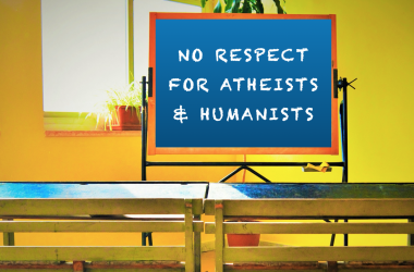 The State religion course disrespects atheists and humanists
