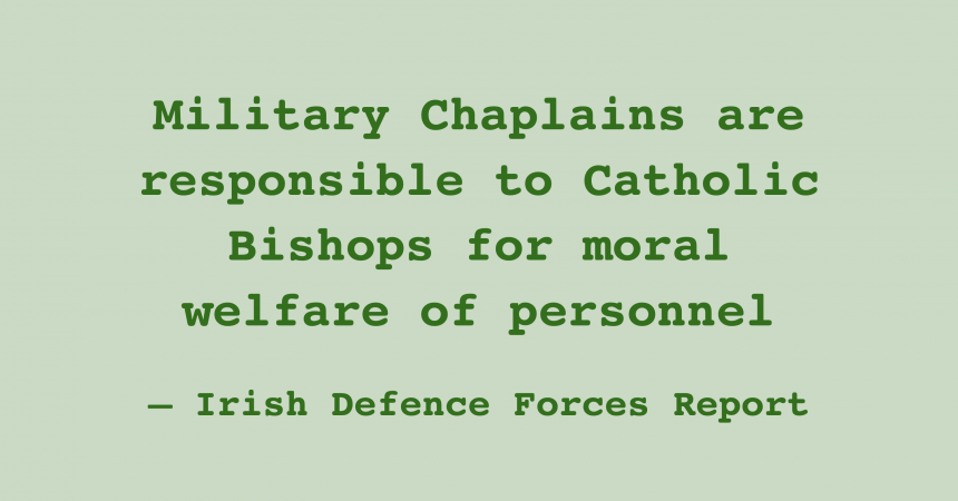 Secular Sunday #486 – Military chaplains are responsible to Catholic Bishops